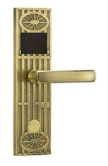 Gold Hotel Door Lock System Using Rfid Card 125KHz Or 13.56MHz