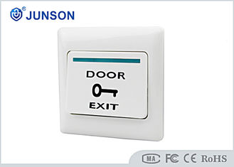 China Access Control Exit Push Button , Hotel Plastic Door Exit Button supplier