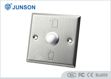 China Door Access Exit Push Button / Emergency Door Release Button Dc 12v supplier