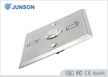 China Stainless Steel  Exit Push Button Switch Of Door Aaccess Control supplier