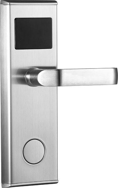 Electronic Key Card Rfid Hotel Locks Stainless Steel With