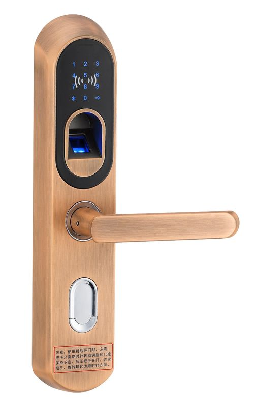 china outdoor keyless biometric fingerprint door locks with deadbolt supplier - Biometric Door Lock