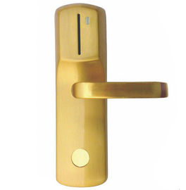 China Gold IC Contact  RFID Hotel Locks Zinc Alloy Mifare One 2 Years Warranty distributor