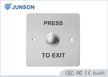 China No/NC SS Plate Door Release Weatherproof Exit Button JS-86D 500000 Times Mechanical Life distributor