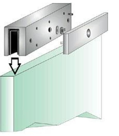 Access Control U Shaped Door Lock Bracket Aluminum Sandblast Finished
