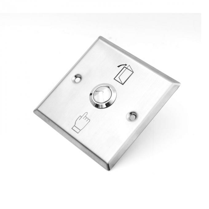 Stainless Steel  Exit Push Button Switch Of Door Aaccess Control