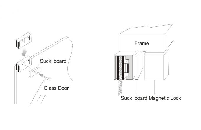 Household Sliding Door Magnetic Lock , Electromagnetic Lock 300LBS 180KG JS-180S