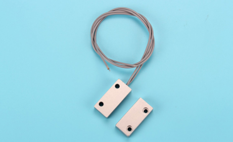 500mA Magnetic Read Switch , Magnetic Door Alarm Sensors Plating Finishing