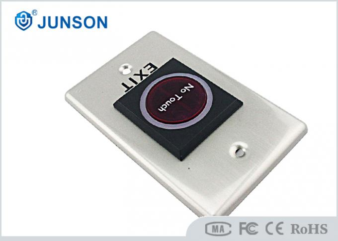 Infrared Touch Free Exit Push Button Door Release Sensor SS304 Plating Material