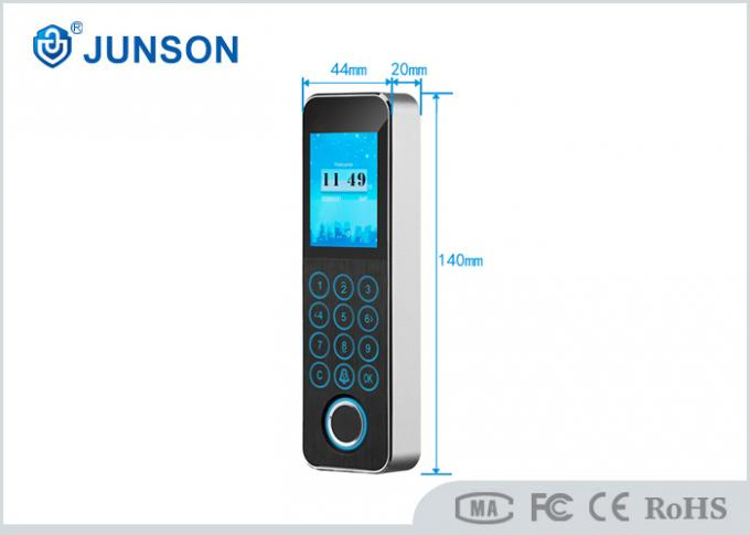 Narrow Mount Fingerprint Access control and time attendance 3000pcs users